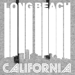 Retro Long Beach California Skyline - Colorblock Hoodie