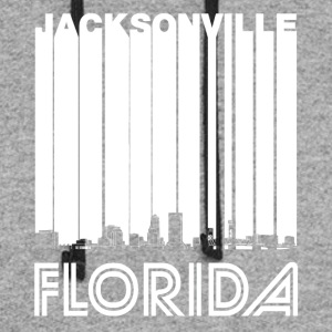 Retro Jacksonville Florida Skyline - Colorblock Hoodie