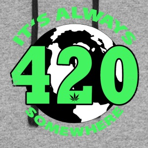 It's always 420 Somewhere - Colorblock Hoodie