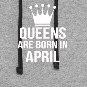 queens are born in april - Colorblock Hoodie