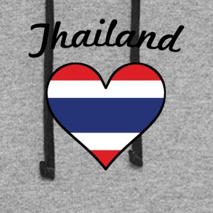 Thailand Flag Heart - Colorblock Hoodie