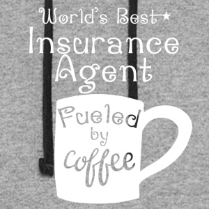 World's Best Insurance Agent Fueled By Coffee - Colorblock Hoodie