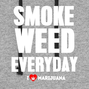 Smoke Weed Everyday - Colorblock Hoodie