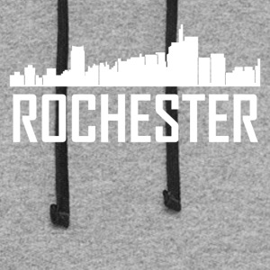 Rochester Michigan City Skyline - Colorblock Hoodie