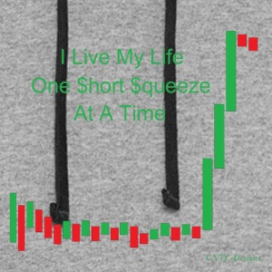 I live my life one short squeeze at a time - Colorblock Hoodie