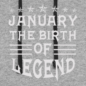 January The Birth of Legend - Colorblock Hoodie