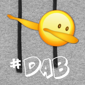 dab dabbing emoticon emo best football - Colorblock Hoodie