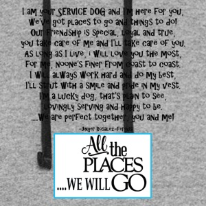 Service dog poem tourq - Colorblock Hoodie