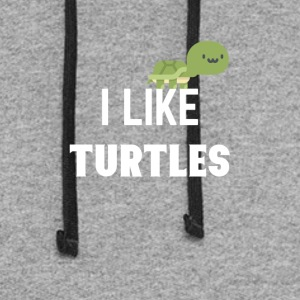 I like turtles - Colorblock Hoodie