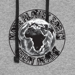 Make Planet Earth Great Again - Colorblock Hoodie