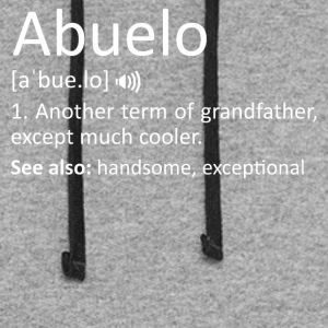 Abuelo Definition Funny Gift Spanish Grandfather - Colorblock Hoodie