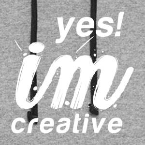 Yes I`m Creative - Colorblock Hoodie