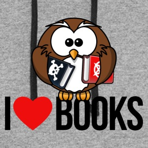 I LOVE BOOKS - Colorblock Hoodie