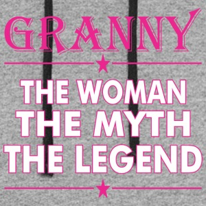 Granny The Woman The Myth The Legend - Colorblock Hoodie