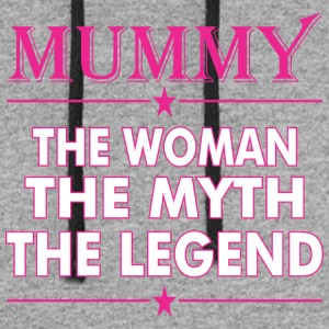 Mummy The Woman The Myth The Legend - Colorblock Hoodie