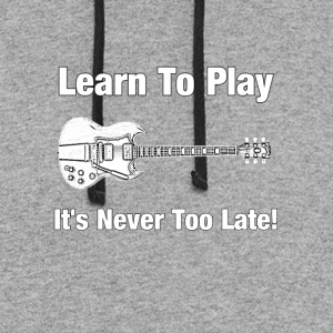 Learn to play guitar - Colorblock Hoodie