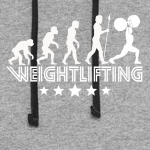Retro Weightlifting Evolution - Colorblock Hoodie
