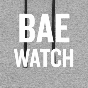 Bae Watch White - Colorblock Hoodie