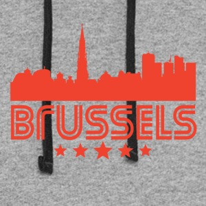 Retro Brussels Skyline - Colorblock Hoodie