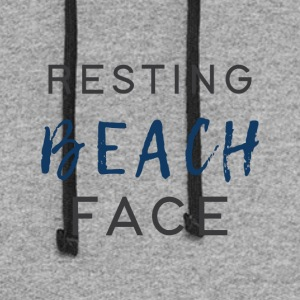 Resting Beach Face - Colorblock Hoodie
