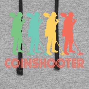 Retro Coinshooter Pop Art - Colorblock Hoodie