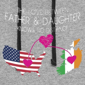 The Love Between Father And Daughter - Colorblock Hoodie