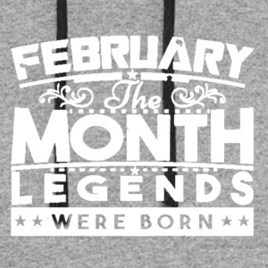 February The Month Legends Were Born Shirt - Colorblock Hoodie