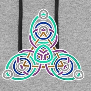 celtic knot 1 - Colorblock Hoodie