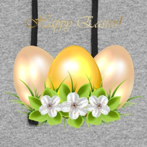Golden Easter eggs with flowers - Colorblock Hoodie