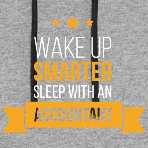 Wake Up Smarter Sleep With An Accountant T Shirt - Colorblock Hoodie