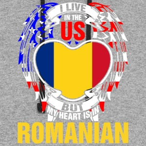 I Live In The Us But My Heart Is In Romanian - Colorblock Hoodie