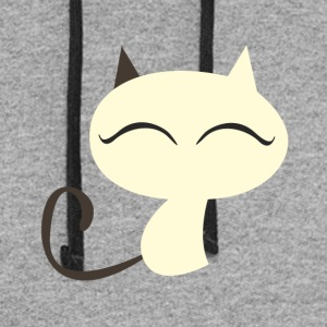 White cutie kitty - Colorblock Hoodie