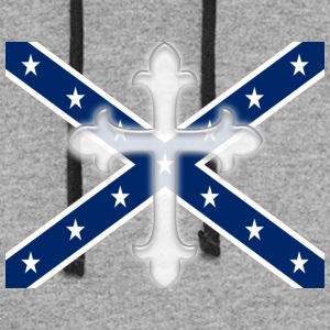Stars and Bars Cross Confederate - Colorblock Hoodie