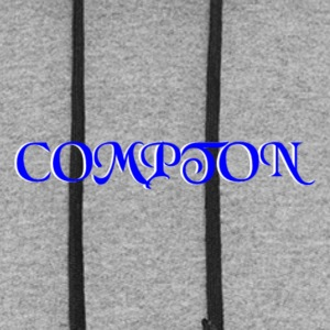 BLUE AND WHITE COMPTON CALIFORNIA - Colorblock Hoodie