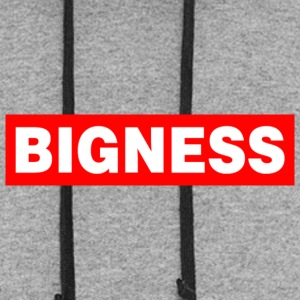 BIGNESS Red - Colorblock Hoodie