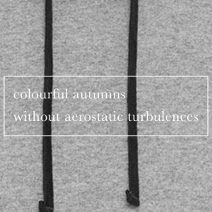 Colourful autumns without aerostatic turbulences - Colorblock Hoodie