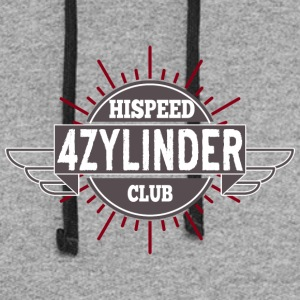 Vierzylinder Hispeed Club - Colorblock Hoodie