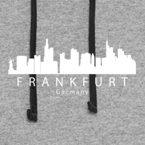 Frankfurt Germany Skyline - Colorblock Hoodie
