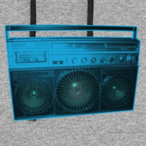 Boombox - Old school - Ghetto Blaster - Colorblock Hoodie