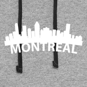 Arc Skyline Of Montreal Quebec Canada - Colorblock Hoodie