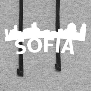 Arc Skyline Of Sofia Bulgaria - Colorblock Hoodie
