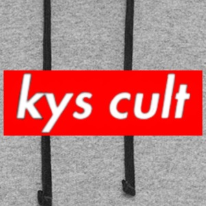 kys cult red - Colorblock Hoodie