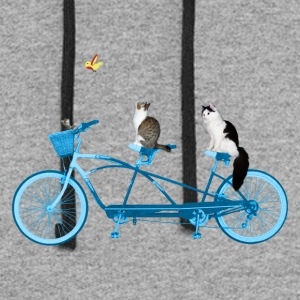 Cats On a Bike - Colorblock Hoodie