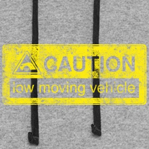 #caution #lowmovingvehicle by GusiStyle - Colorblock Hoodie
