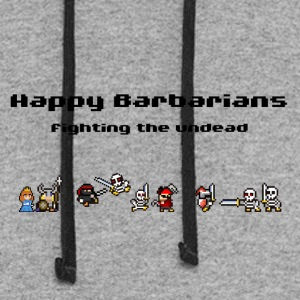 Happy Barbarians - fighting the undead - Colorblock Hoodie