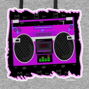 Awesome Eighties Boombox - Colorblock Hoodie