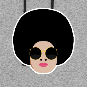 Afro In Color - Colorblock Hoodie