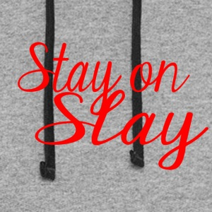 stay on slay red - Colorblock Hoodie