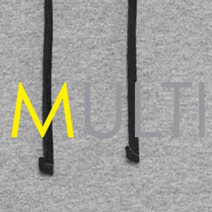 Yellow 'm' - Colorblock Hoodie