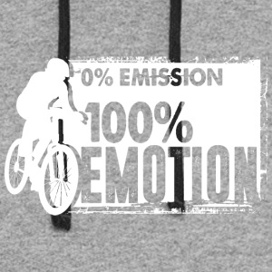 0% Emission - 100% Emotion - Colorblock Hoodie